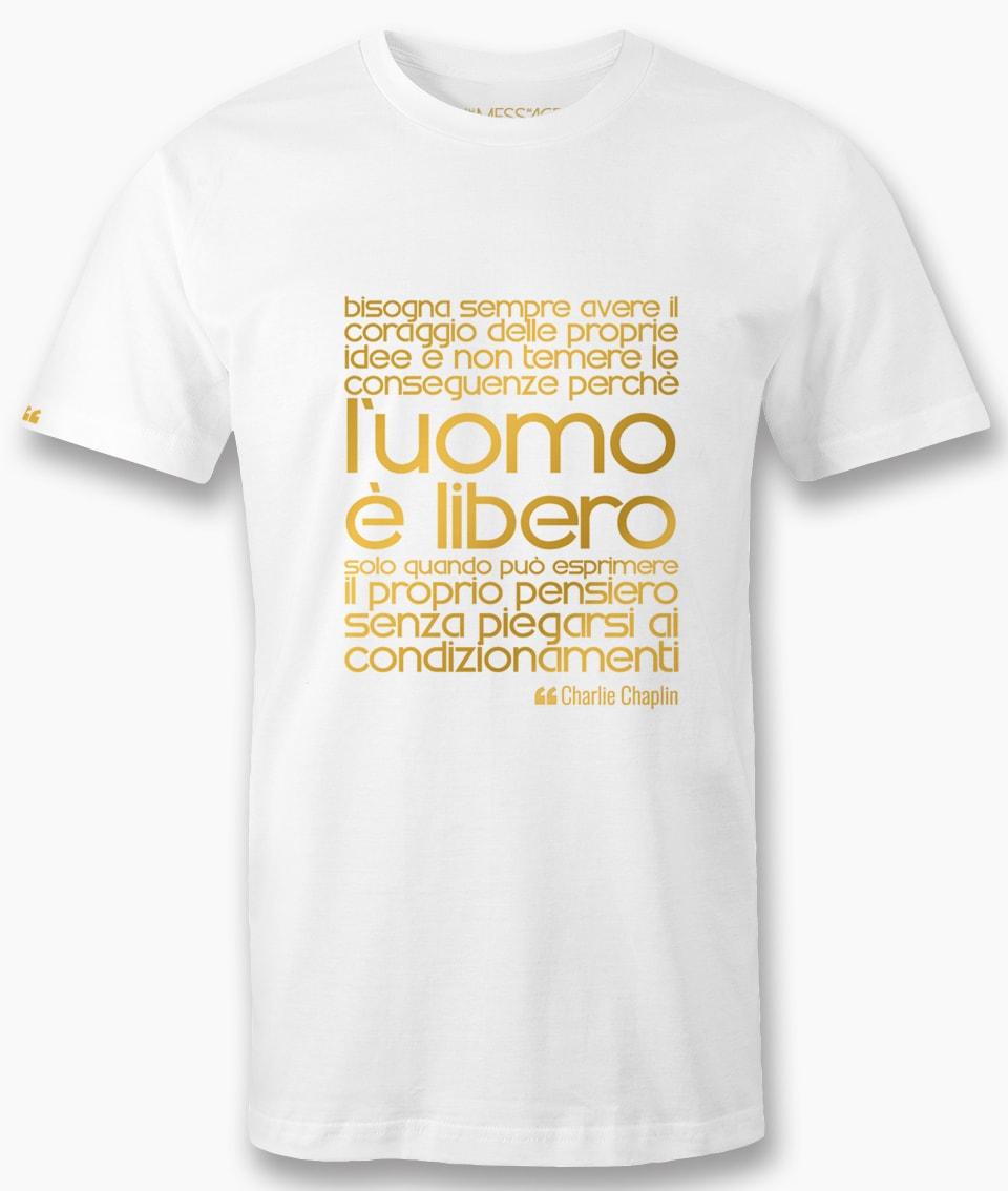 T-Shirt – Il coraggio delle proprie idee – Charlie Chaplin