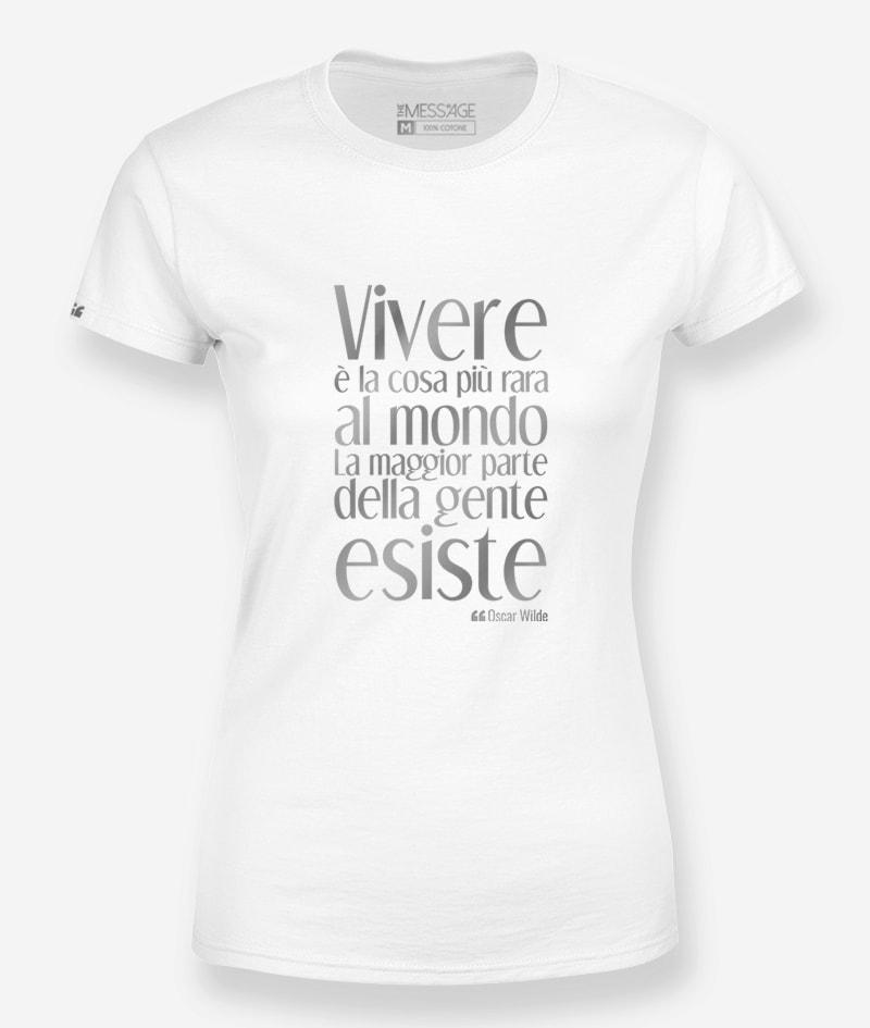 T-Shirt – Vivere è la cosa più rara – Oscar Wilde