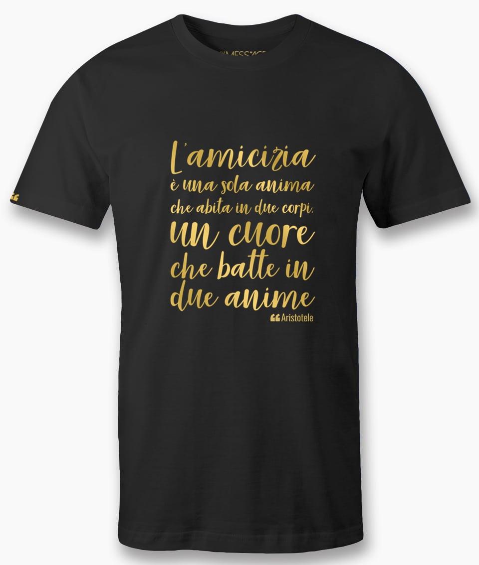 T-Shirt – L'amicizia è una sola anima – Aristotele