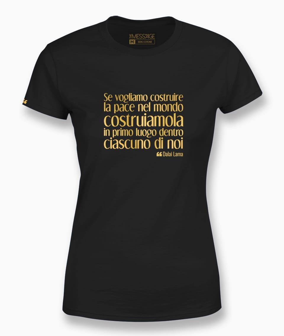 Se vogliamo costruire la pace – Tenzin Gyatso T-Shirt