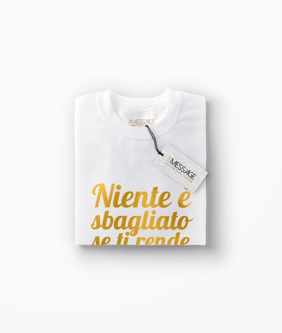 T-Shirt – Niente è sbagliato se – Bob Marley