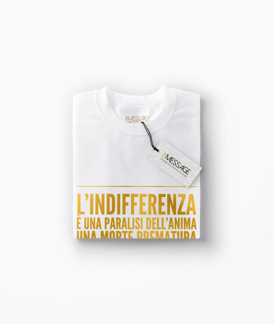T-Shirt – L'indifferenza è una paralisi dell'anima – Anton Čechov