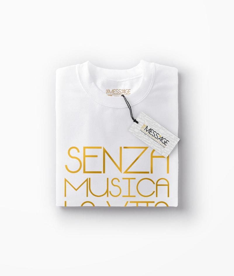 T-Shirt – Senza musica – Friedrich Nietzsche