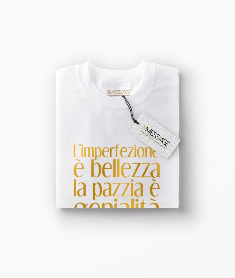 T-Shirt – L'imperfezione è bellezza – Marilyn Monroe
