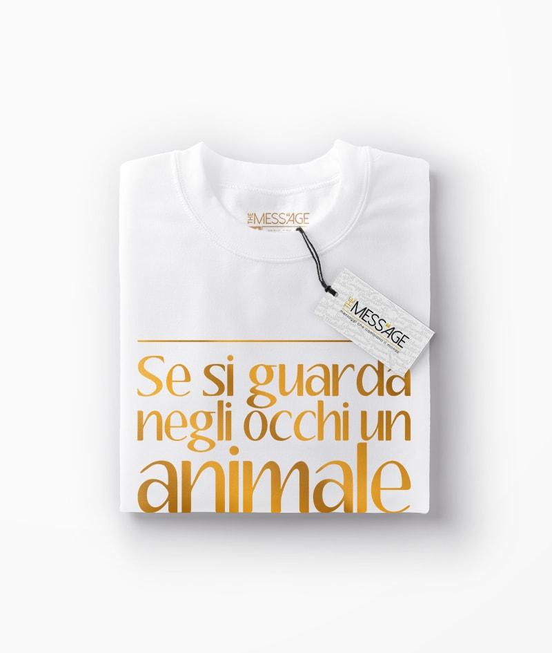 Se si guarda negli occhi un animale – Luigi Pirandello T-Shirt