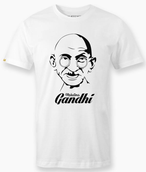 T-Shirt – Ritratto stilizzato del Mahatma Gandhi