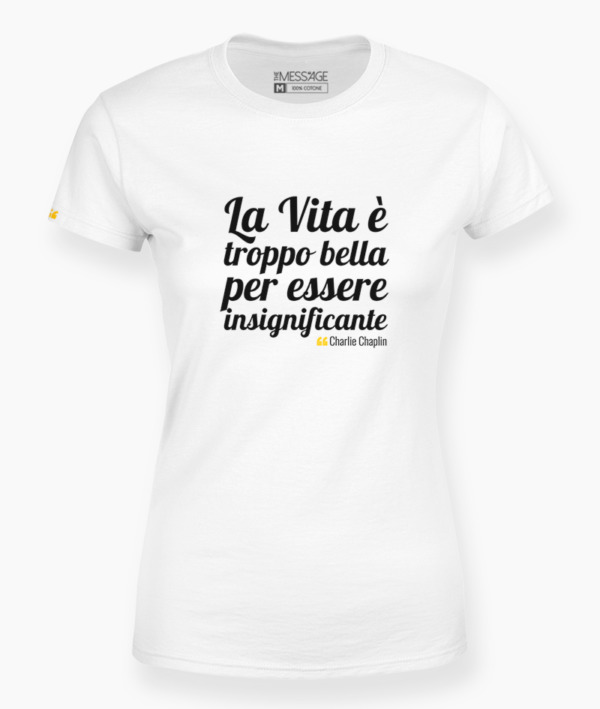 T-Shirt – La felicità è un'opera d'arte – Edith Wharton