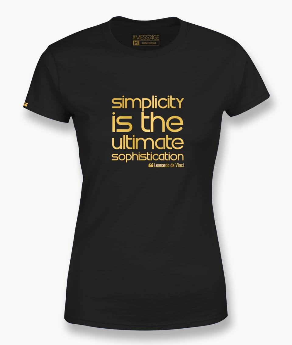 Simplicity is – Leonardo da Vinci T-Shirt
