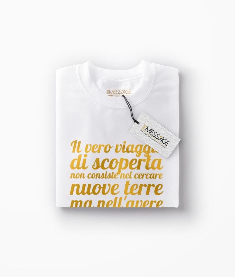 T-Shirt – Il vero viaggio – Marcel Proust