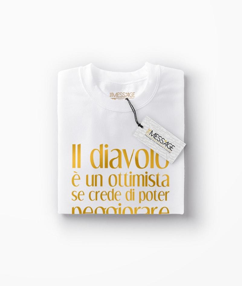 T-Shirt – Il diavolo è un ottimista – Karl Kraus