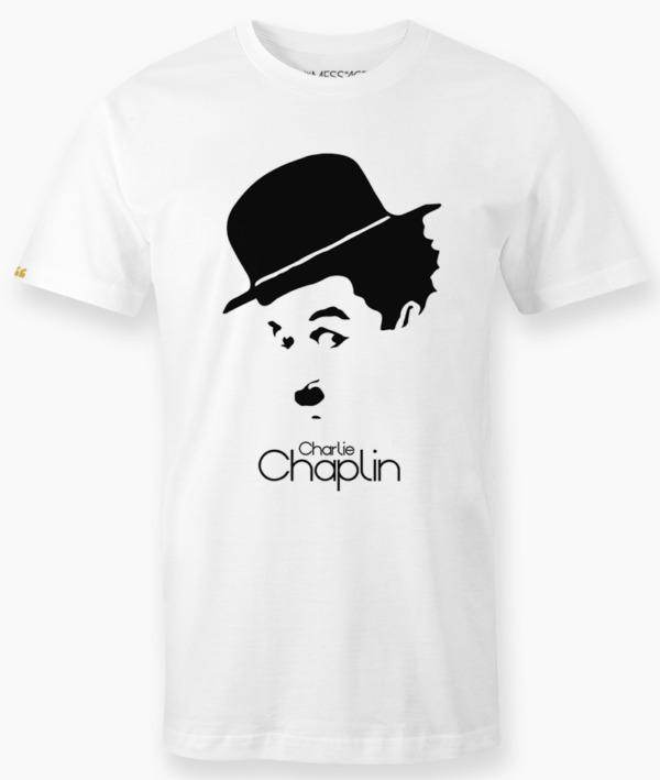 T-Shirt – Ritratto stilizzato di Charlie Chaplin