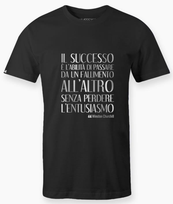 T-Shirt – Il successo è – Winston Churchill