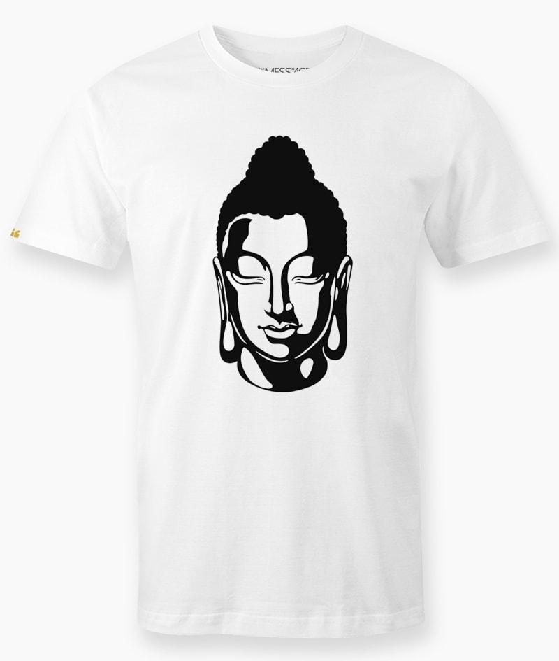 T-Shirt – Ritratto stilizzato di Buddha
