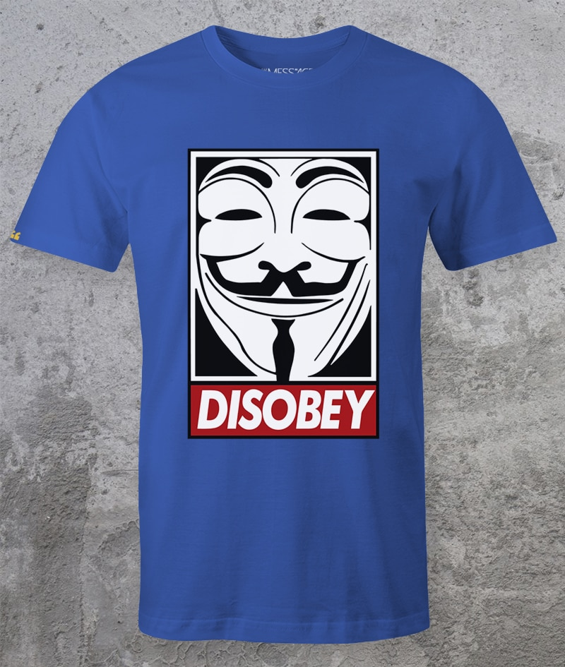T-Shirt – Disobey – V per Vendetta