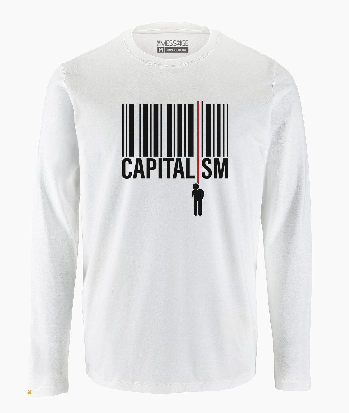 T-Shirt – Capitalism – Manica lunga