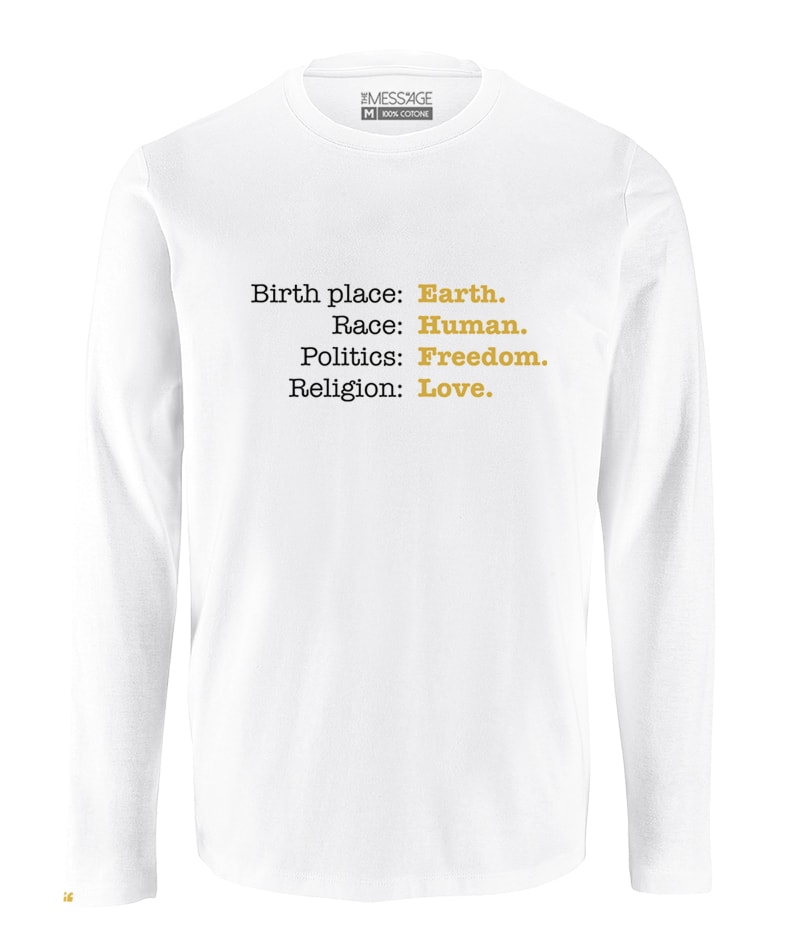 T-Shirt – I am Human – Manica lunga