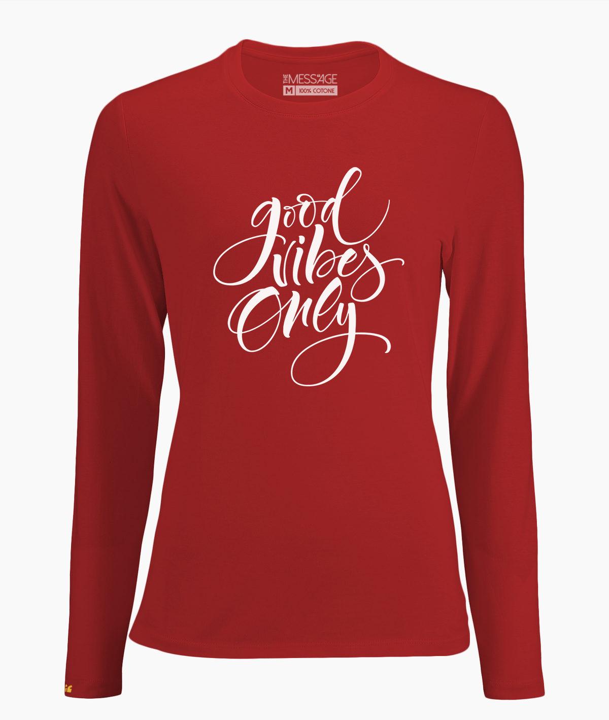 T-Shirt – Good Vibes Only – Manica lunga
