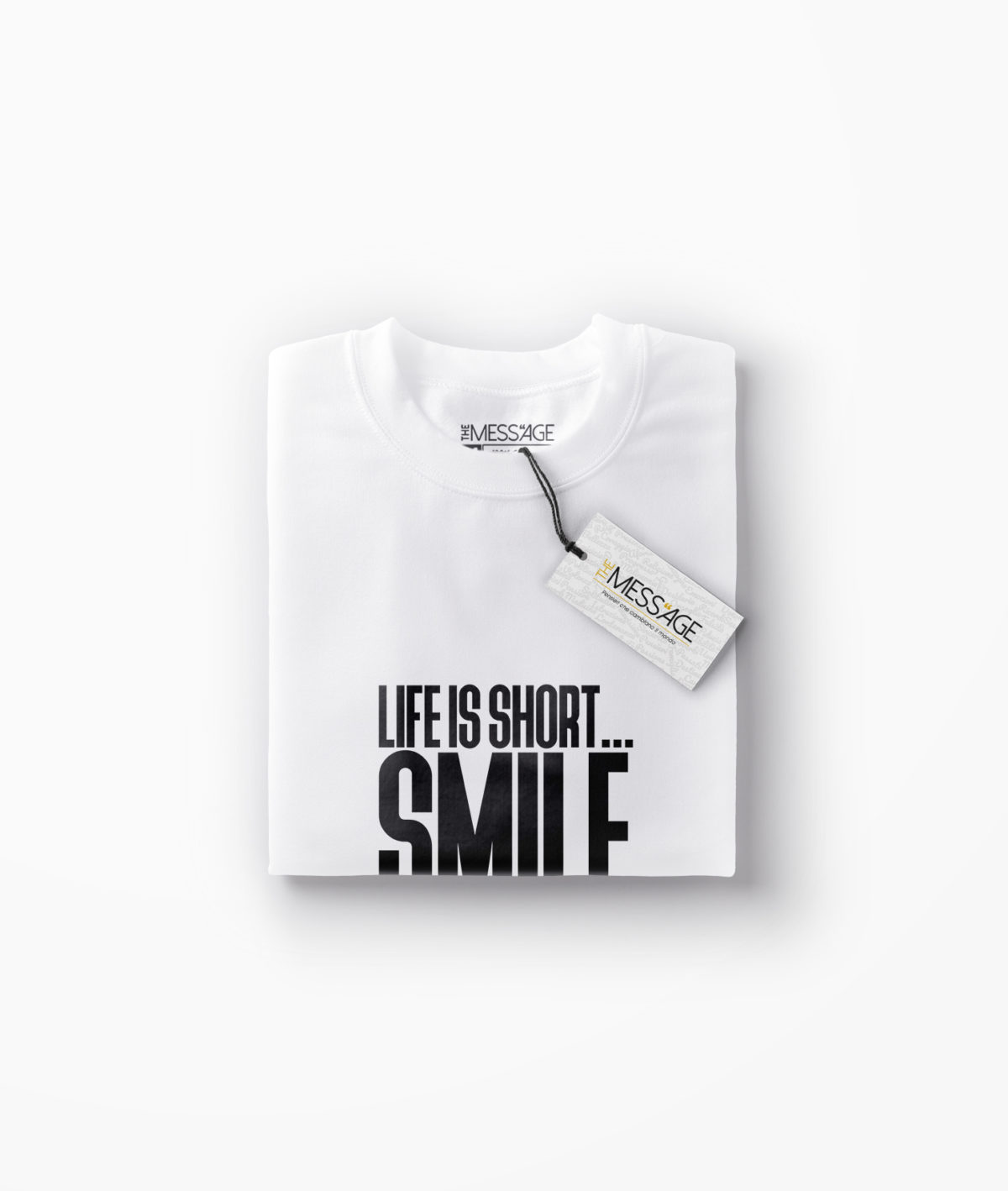 T-Shirt – Life is short… Smile while you still have teeth – Manica lunga