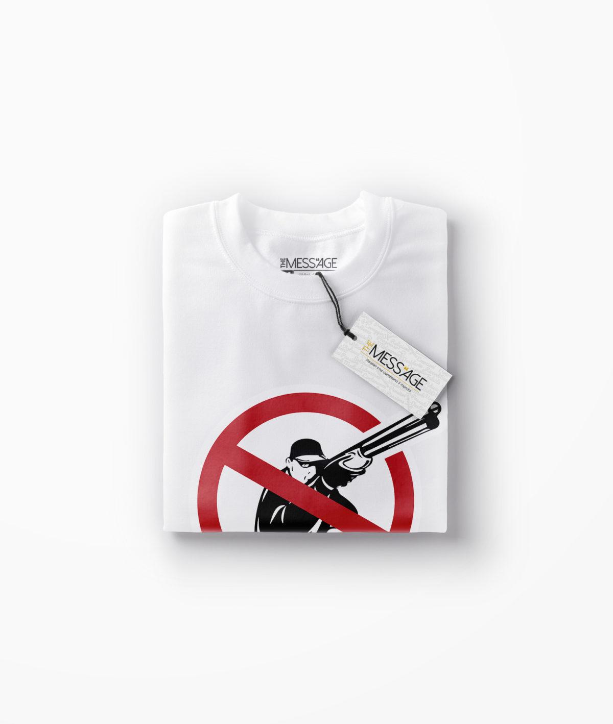 T-Shirt – Stop Caccia – Manica lunga