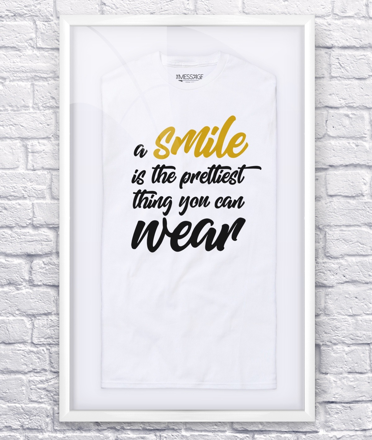 T-Shirt – A smile is the prettiest thing you can wear – Manica lunga