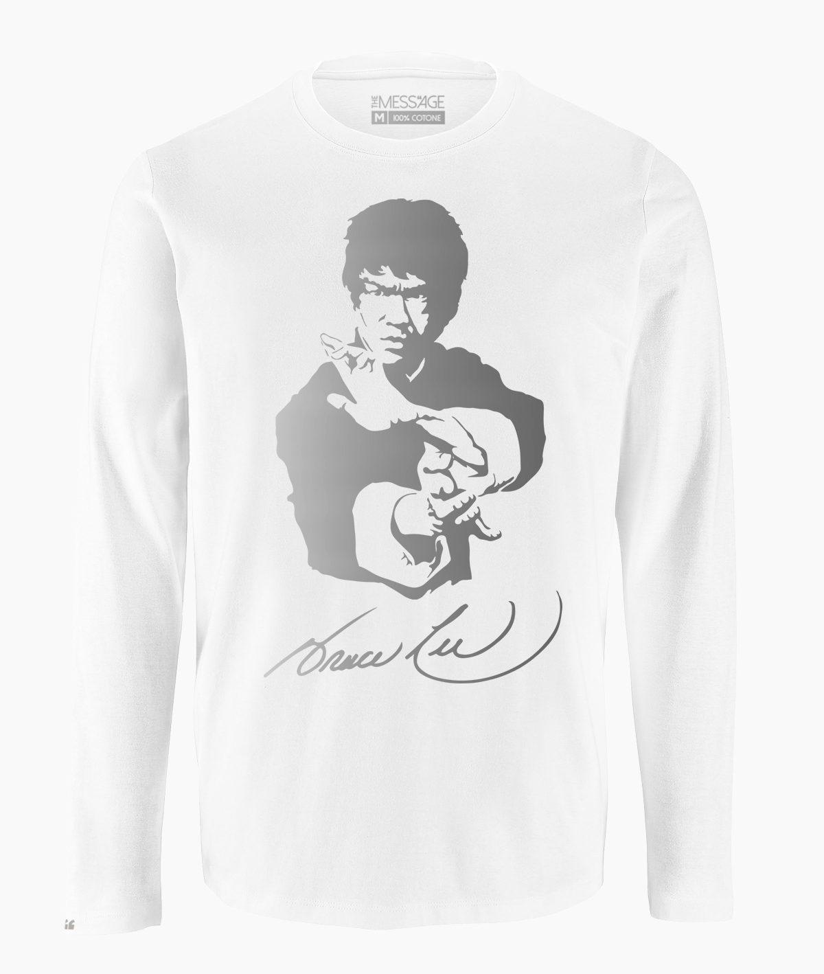 T-Shirt – Ritratto stilizzato di Bruce Lee – Manica lunga
