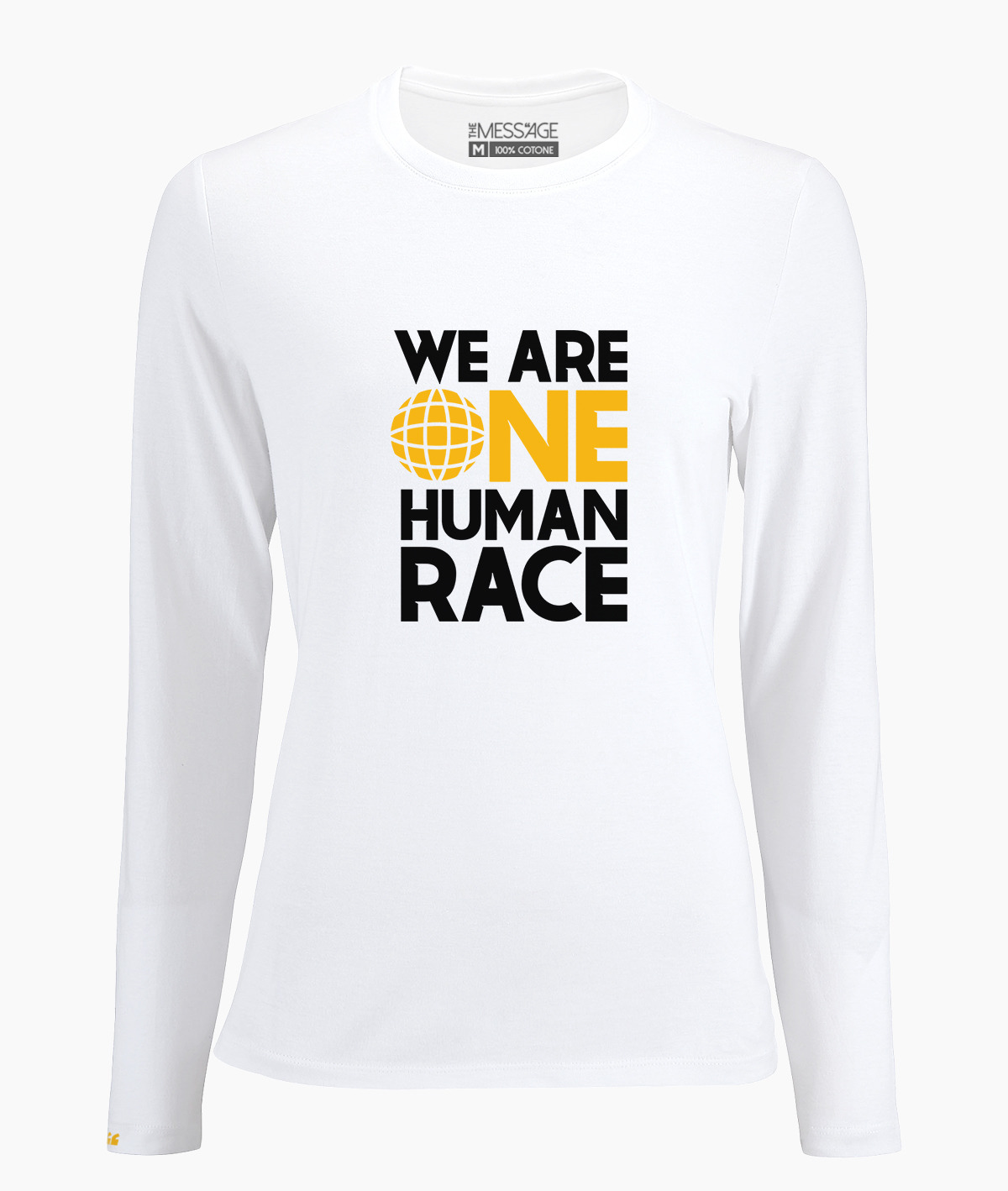 T-Shirt – We are One Human Race – Manica lunga