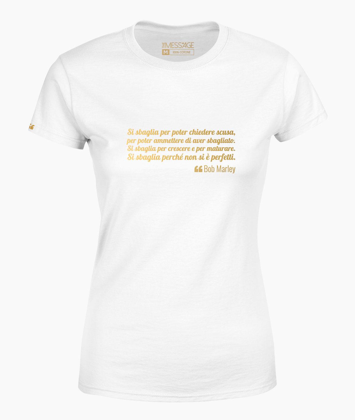 T-Shirt – Si sbaglia per crescere – Bob Marley