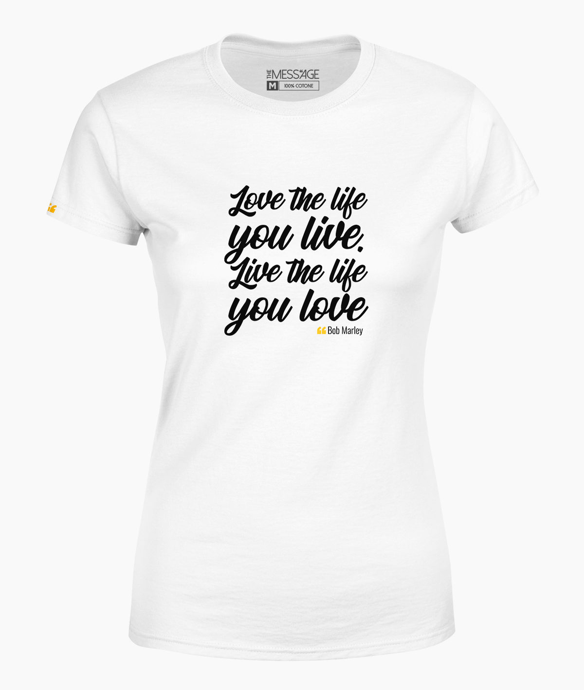 T-Shirt – Love the life you live – Bob Marley