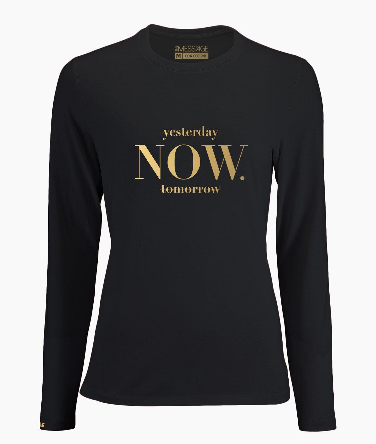 T-Shirt – NOW – Manica lunga