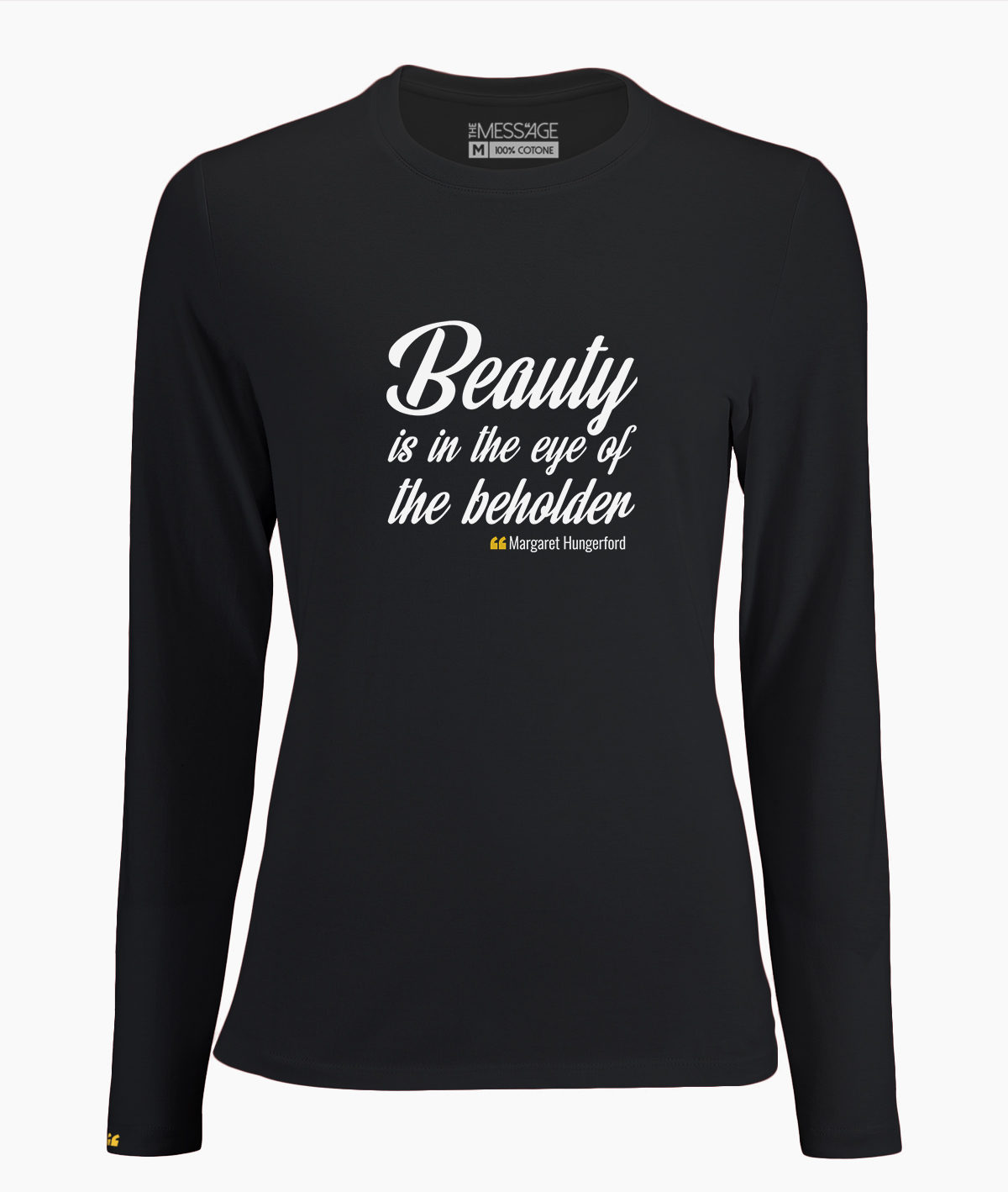 T-Shirt – Beauty is in the eyes – Margaret Hungerford – Manica lunga