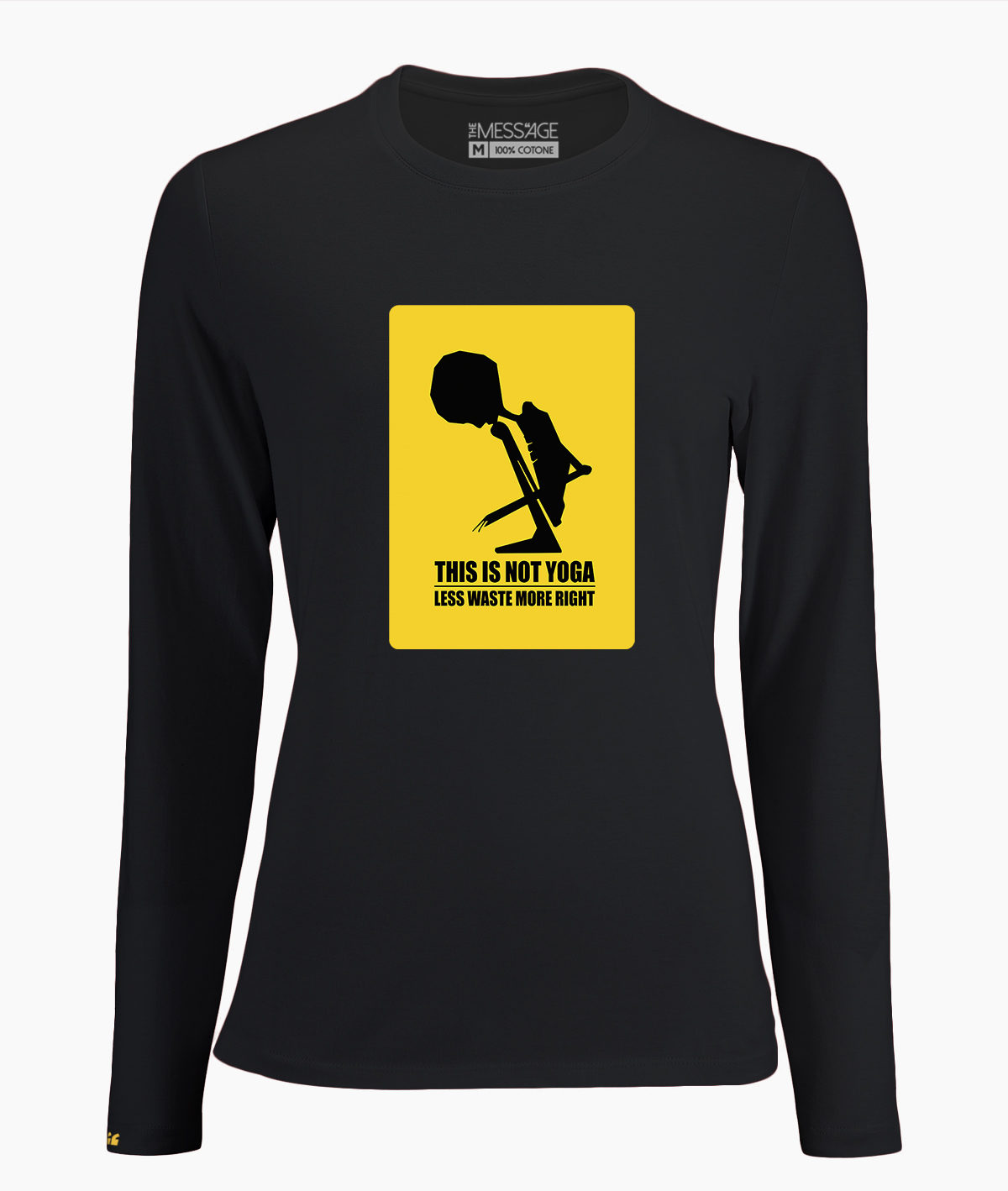 T-Shirt – This is not Yoga – Manica lunga