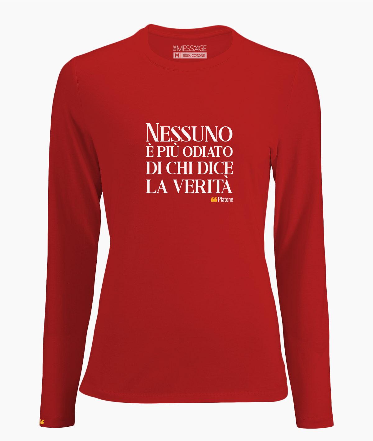 T-Shirt – Nessuno è più odiato – Platone – Manica lunga