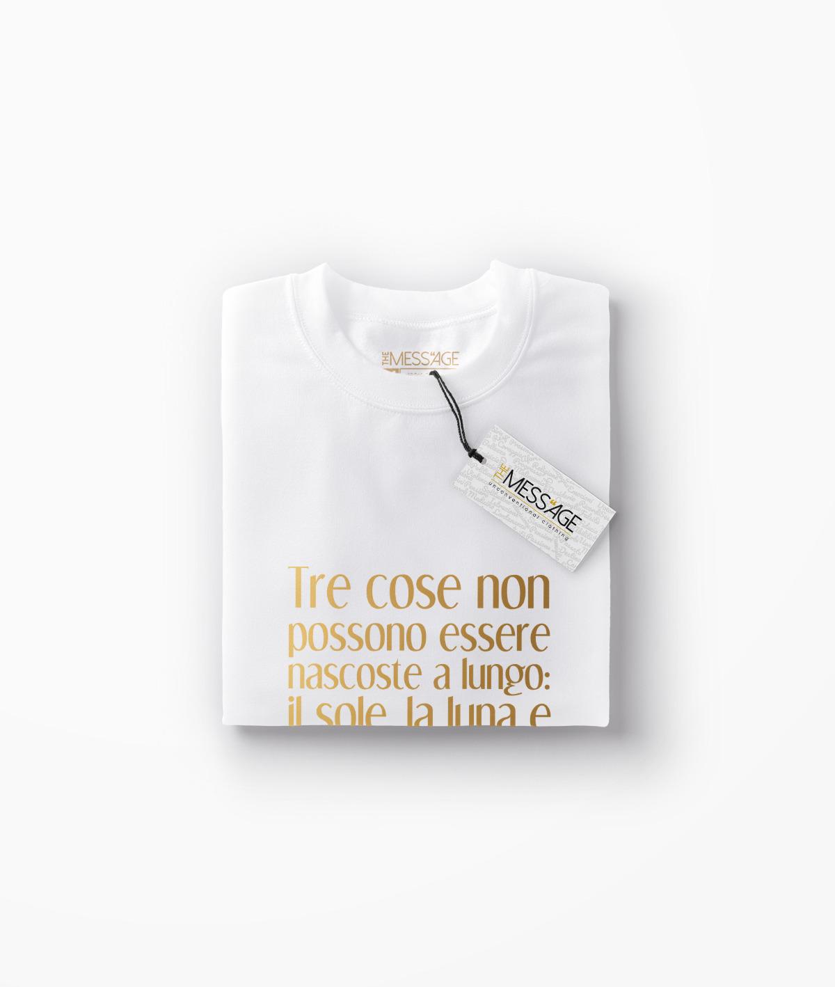 Tre cose non possono essere nascoste – Buddha T-Shirt Manica lunga