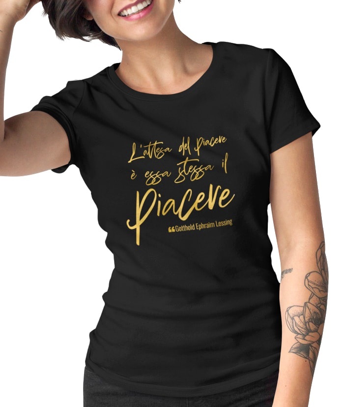 L'attesa del piacere – Gotthold Ephraim Lessing T-Shirt