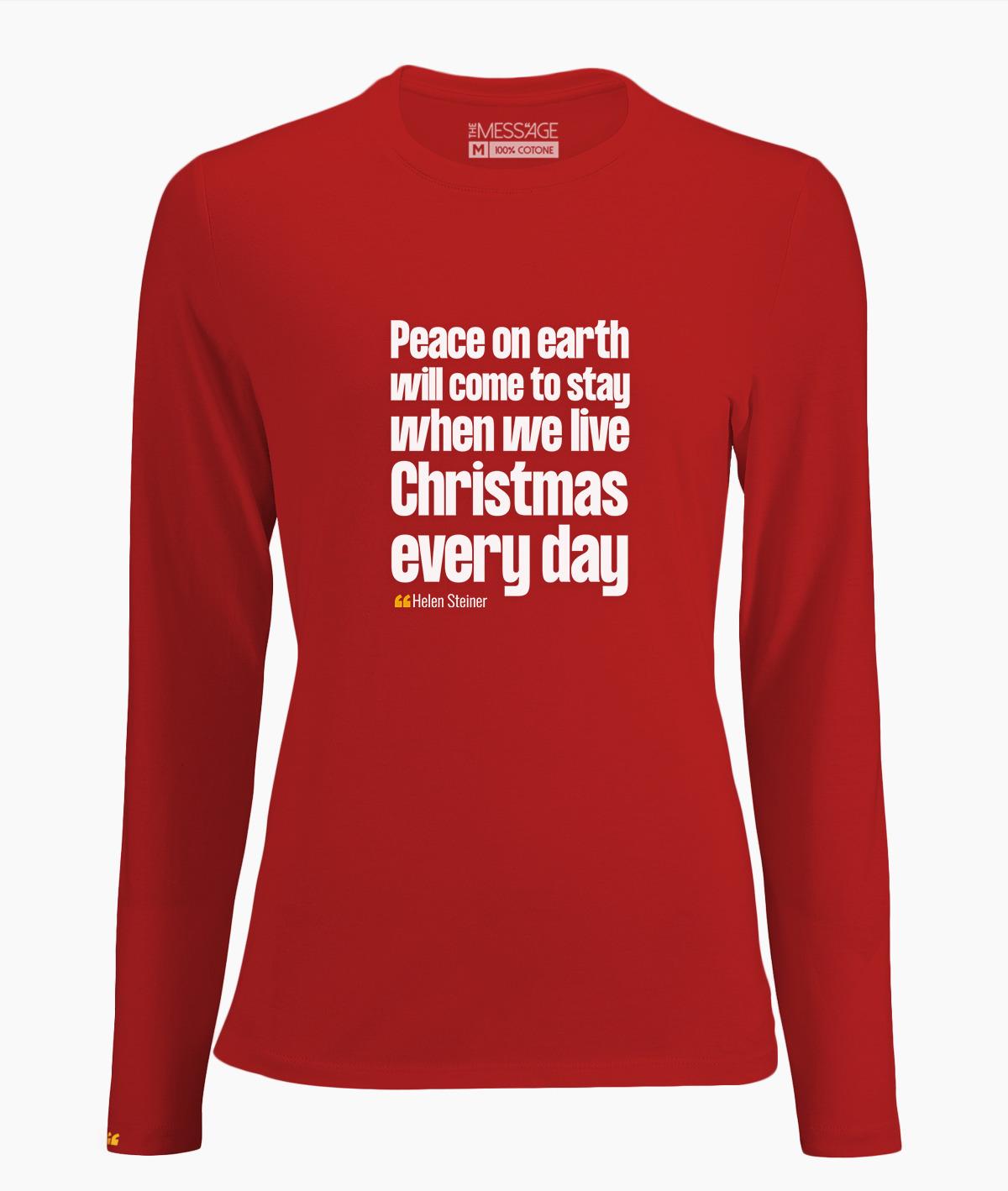 T-Shirt – Peace on earth – Helen Steiner – Manica lunga
