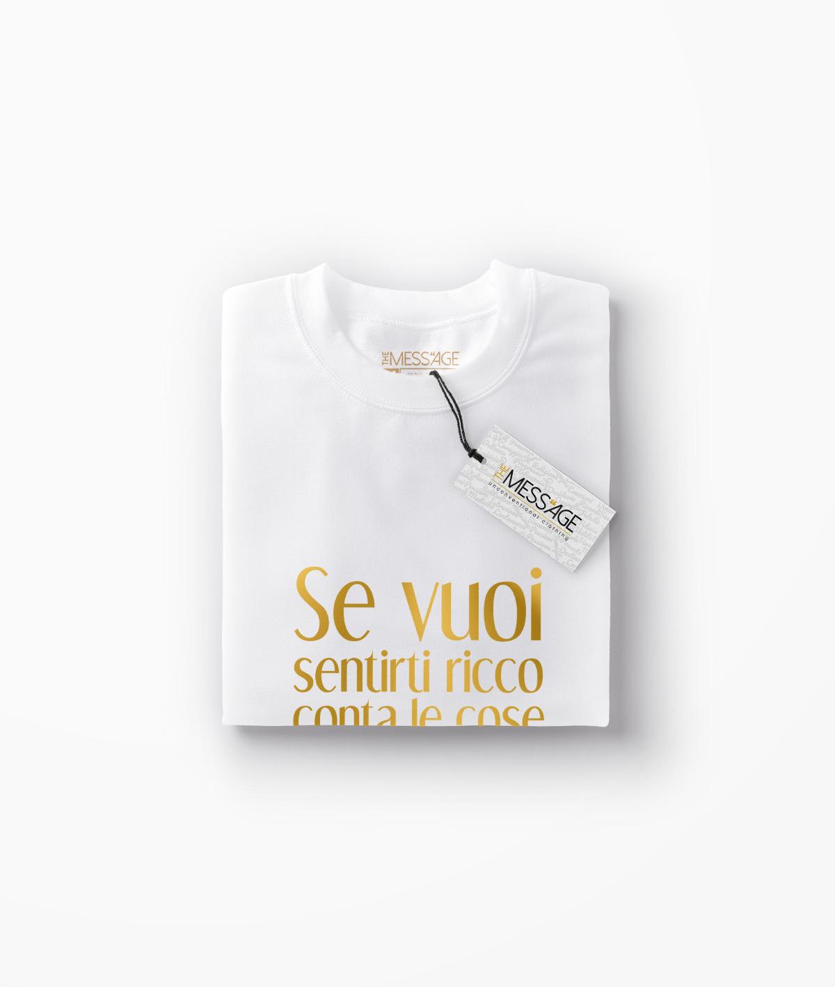 Se vuoi sentirti ricco – Seneca T-Shirt