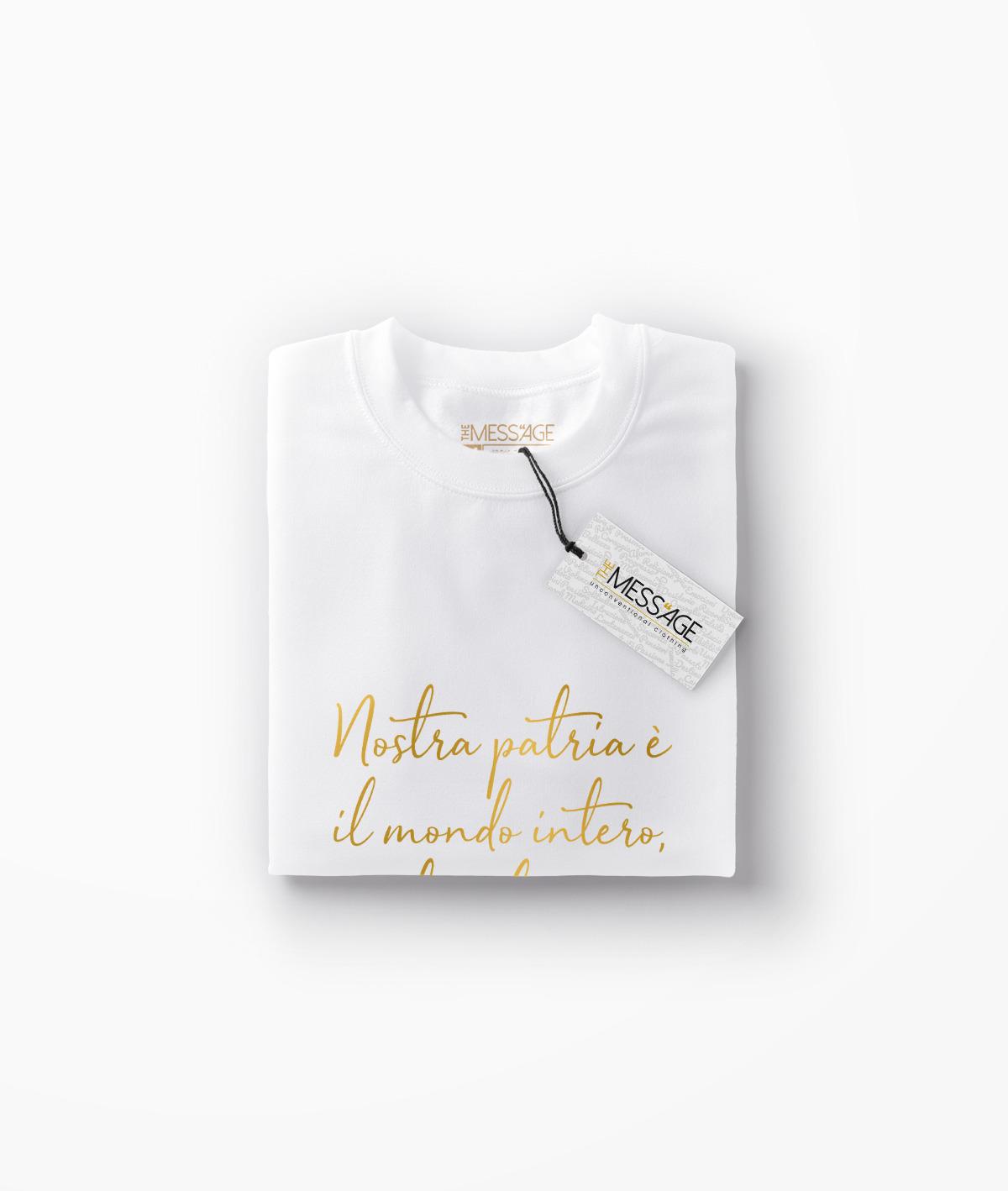 Nostra patria è il mondo intero – Pietro Gori T-Shirt