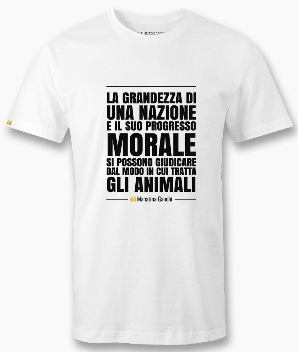 La grandezza di una nazione – Mahatma Gandhi T-Shirt