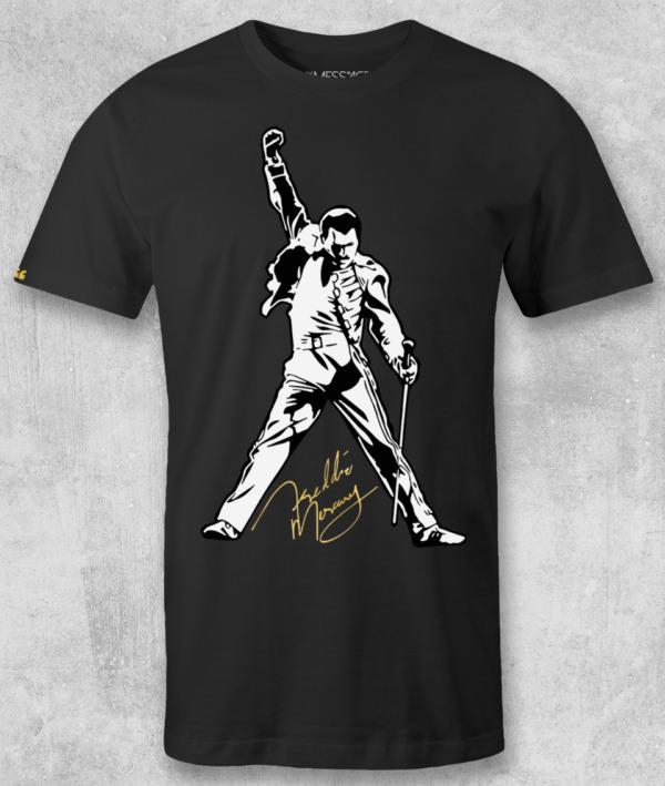 We Will Rock You – Freddie Mercury T-Shirt – Black Edition