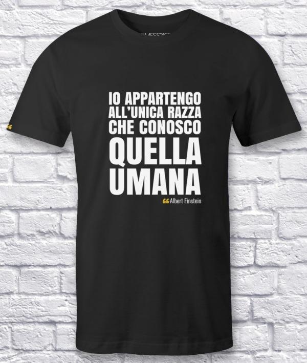 Io appartengo all'unica razza che conosco – Albert Einstein T-Shirt
