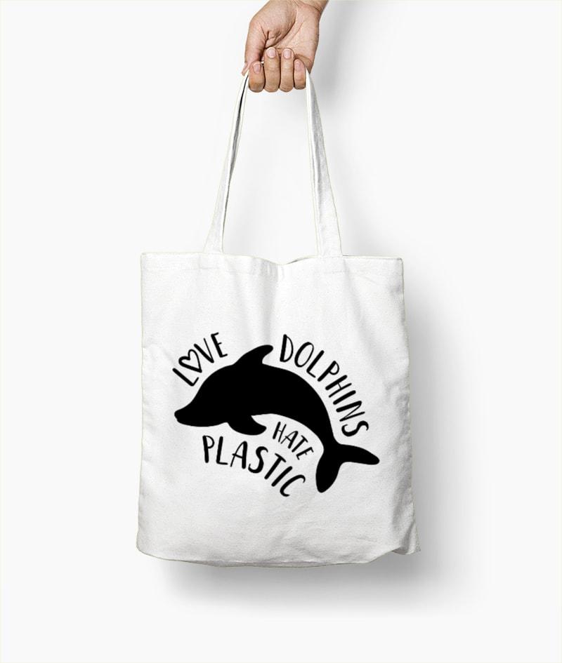 Love dolphins Hate plastic – Borsa