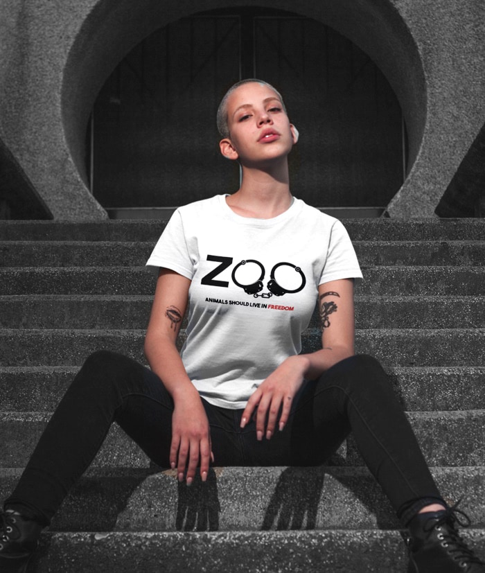 Animals should live in Freedom T-shirt – NO ZOO