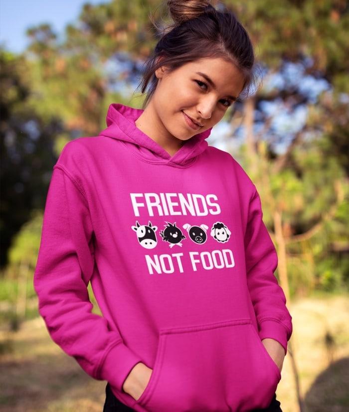 Friends Not Food Felpa