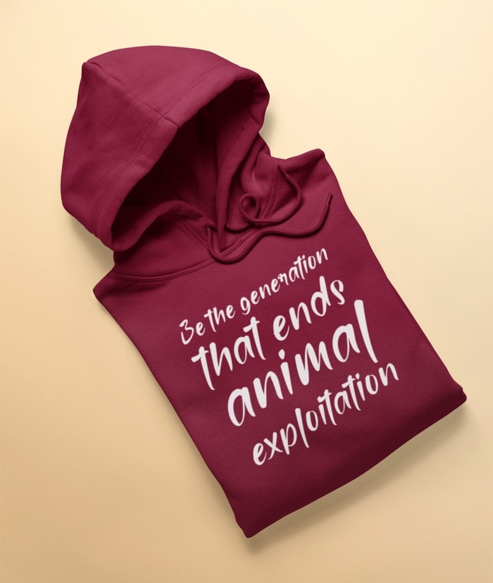 Be the generation that ends animal exploitation – Felpa