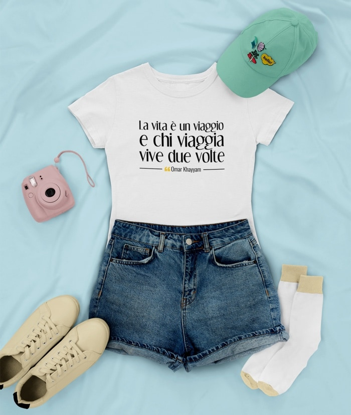 La vita è un viaggio – Omar Khayyam T-Shirt