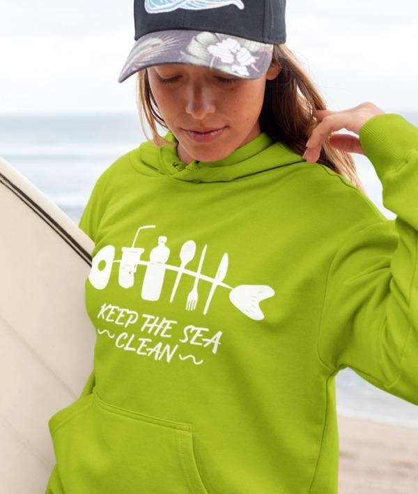 Keep The Sea Clean – Felpa