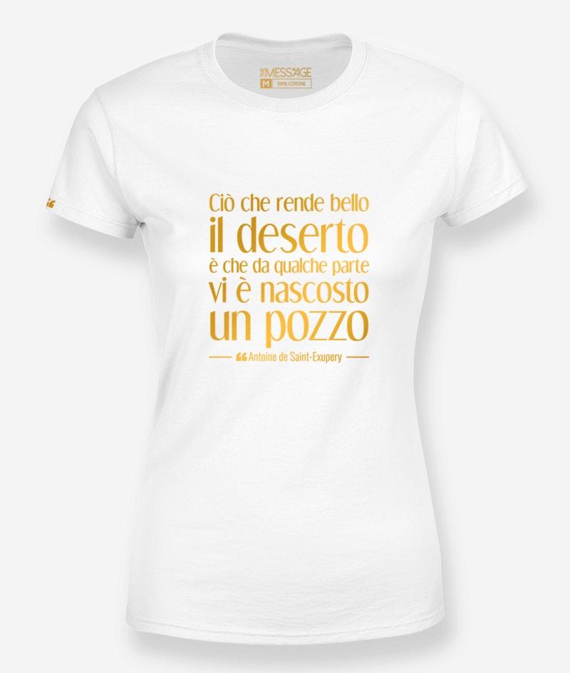 Ciò che rende bello il deserto – Antoine de Saint-Exupéry T-Shirt