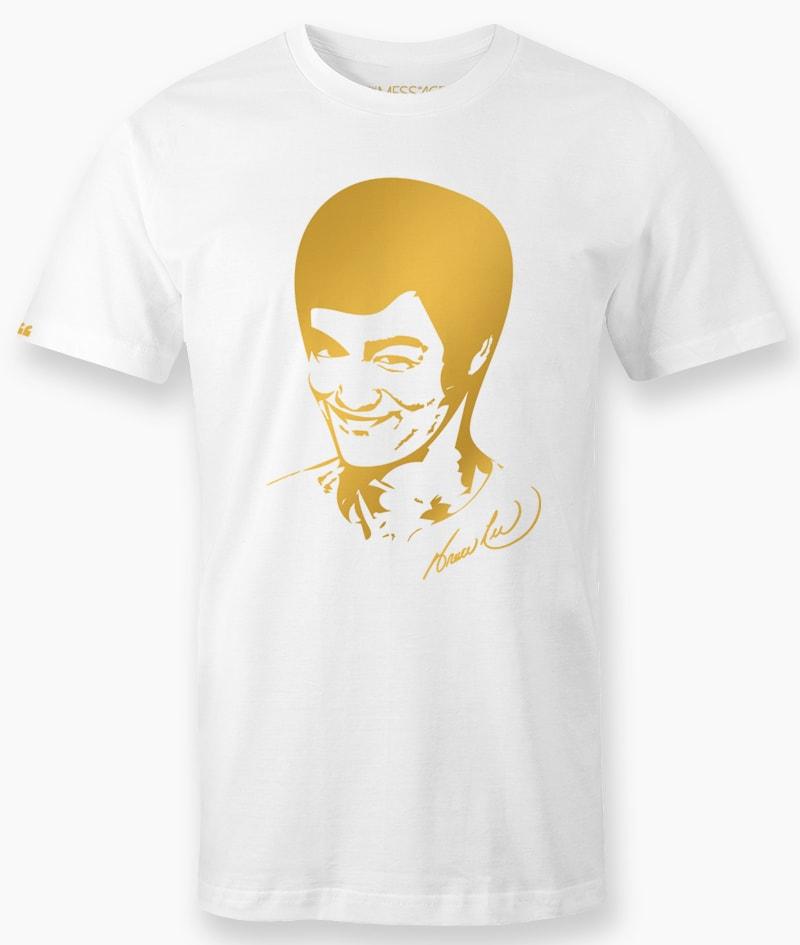 Ritratto stilizzato di Bruce Lee – T-Shirt