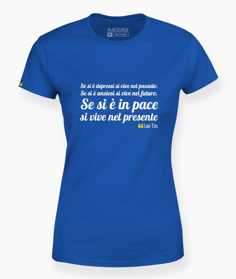 Se si è depressi si vive nel passato – Lao Tzu T-shirt