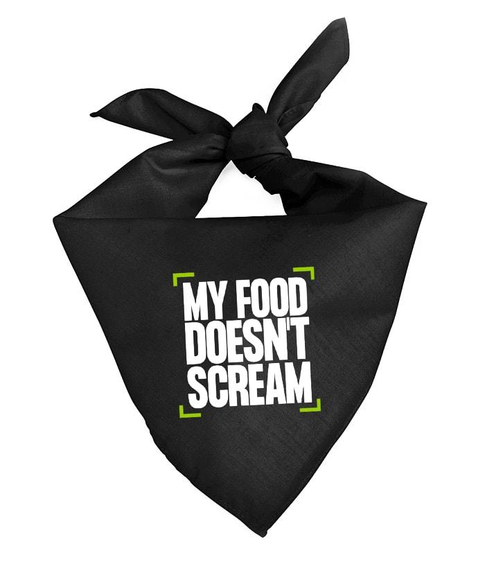 My Food Doesn't Scream Bandana